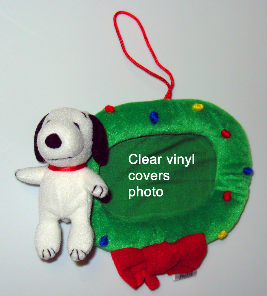 Snoopy Plush Picture Frame Ornament