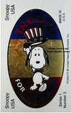 Snoopy for President  Series 1 No. 3 sticker - REDUCED PRICE!