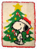 Snoopy Santa Latch Hook Wall Hanging / Rug
