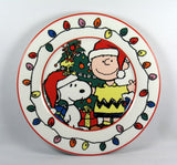 Snoopy Christmas Luncheon Plate - Snoopy Santa