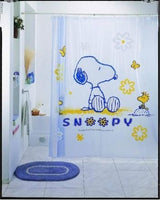 Snoopy Vinyl Shower Curtain - Snoopy and Woodstock