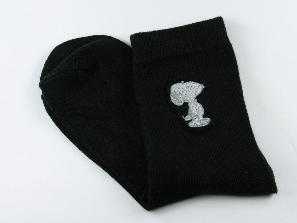 Snoopy Embroidered Crew Length Socks
