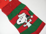 Snoopy Christmas Crew-Length Socks With Plush Accents