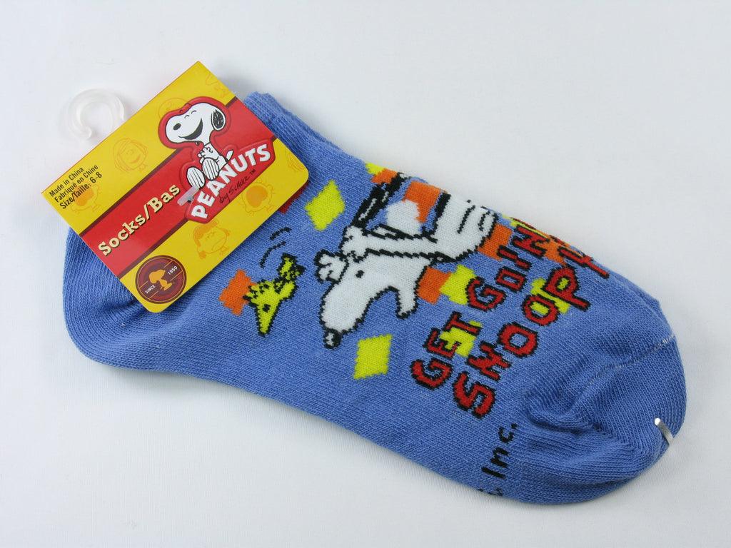 Kids Snoopy and Woodstock No Show Socks (6-8)