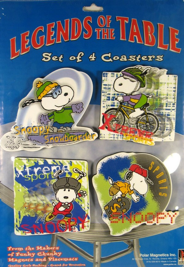 Snoopy Sports Coaster Set