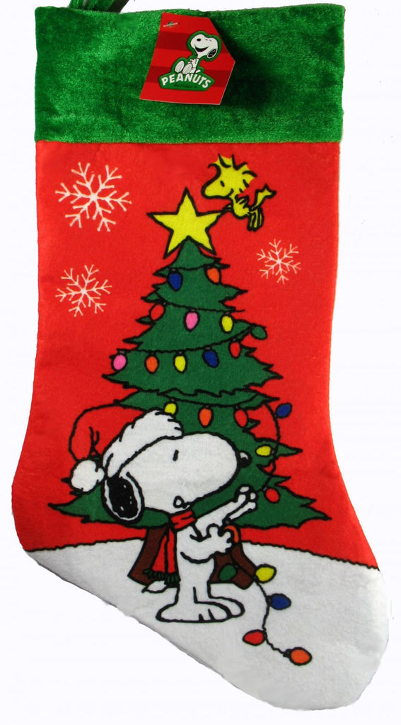 SNOOPY'S DECORATED TREE CHRISTMAS STOCKING