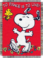 Dancing Snoopy Jacquard Throw / Blanket