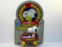 Snoopy in metal wagon