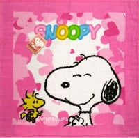 Wash Cloth - Snoopy and Woodstock Hearts