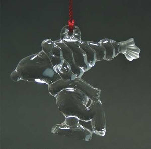 Snoopy Skater Waterford Crystal Christmas Ornament