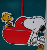 ADLER SNOOPY AND WOODSTOCK BY HEART ORNAMENT