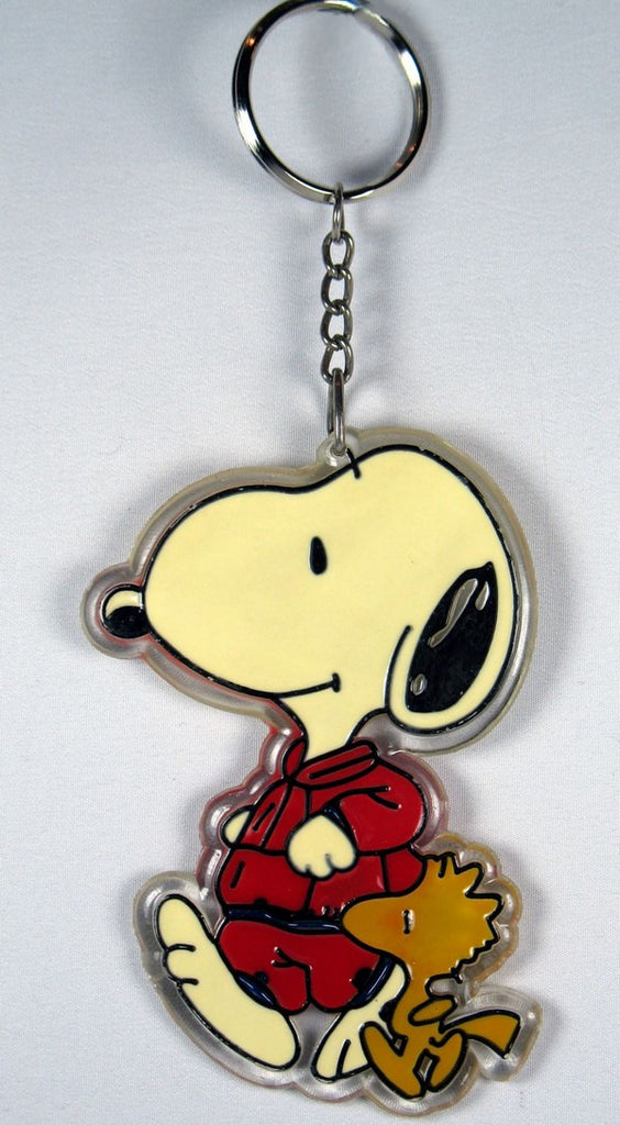 Snoopy and Woodstock Jogging acrylic key chain