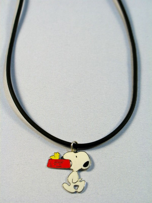 Snoopy Carrying Dog Dish Necklace