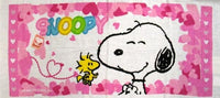 Snoopy and Woodstock Hearts Hand Towel