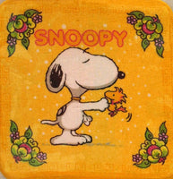 Wash Cloth - Snoopy Shakes Hands With Woodstock