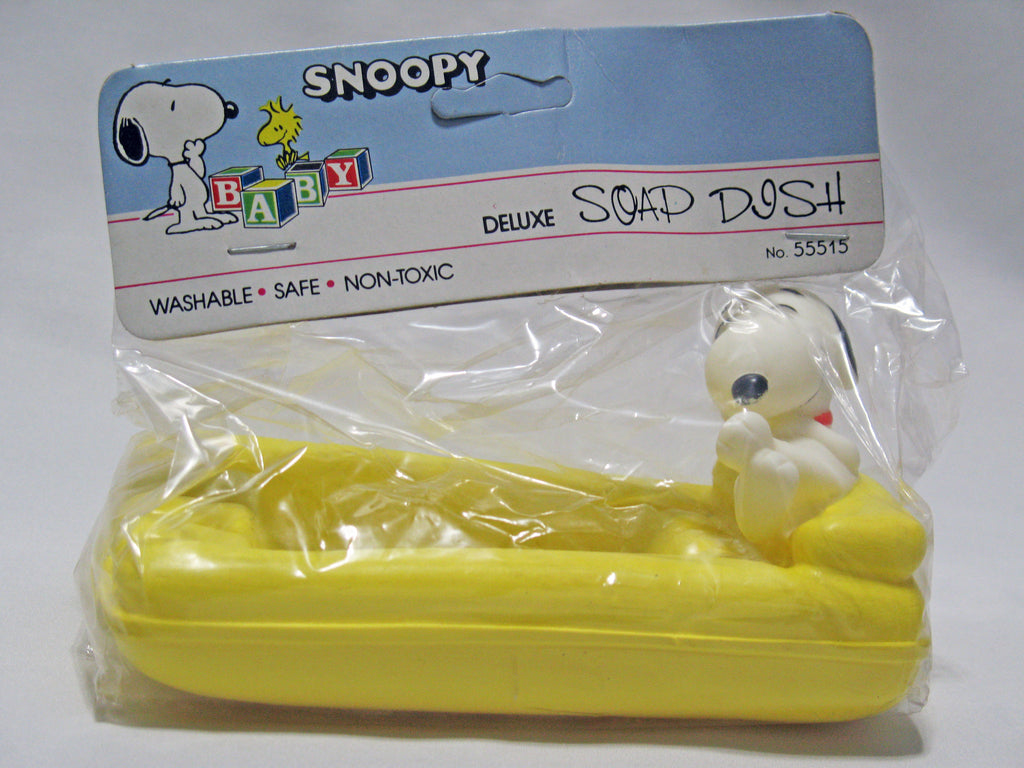 Snoopy Floating Soap Dish - Yellow Raft