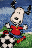 Snoopy Soccer Latch Hook Wall Hanging / Rug