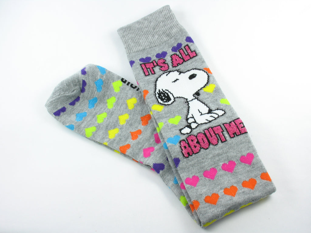 Snoopy Knee High Socks With Glitter Accents