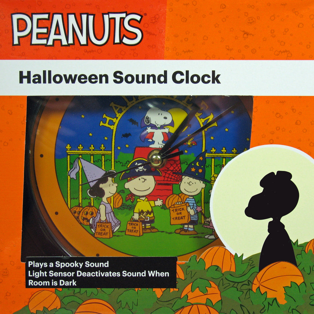 Peanuts Great Pumpkin 50th Anniversary Halloween Sound Clock