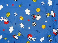 Lambs & Ivy Snoopy Sport Flat/Fitted Sheet