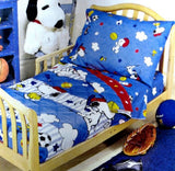 Snoopy Sports 4-Piece Toddler Bed / Crib Set
