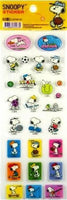 Snoopy Clear-Backed Sticker Set - Sports - REDUCED PRICE!
