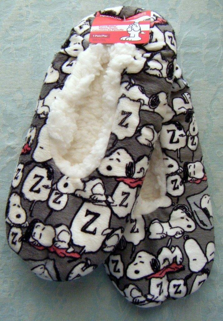 Snoopy Plush Fuzzy Babba Slippers