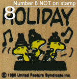 Woodstock Holiday RUBBER STAMP