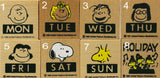 Peanuts Day Of The Week + Holiday RUBBER STAMPS