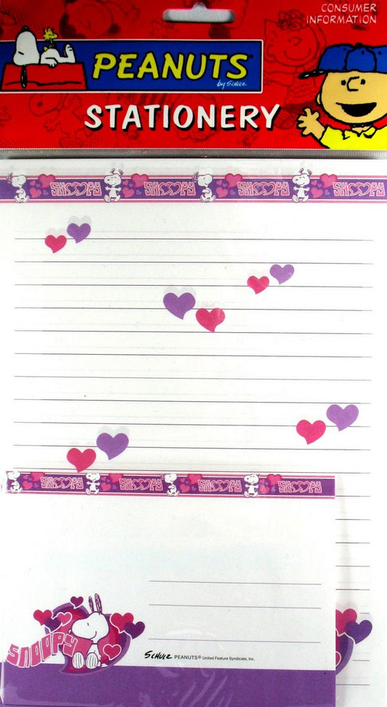 Snoopy with Hearts Stationery
