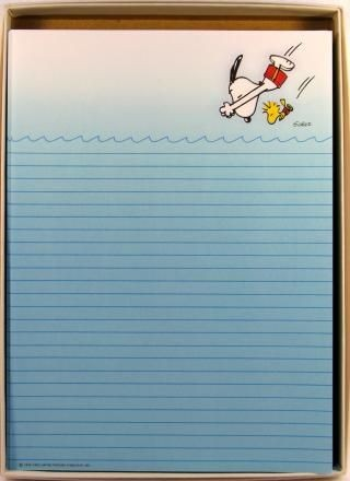 Snoopy Swimmer Stationery