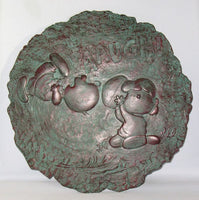 Charlie Brown and Lucy Stepping Stone / Plaque - Bronze Patina