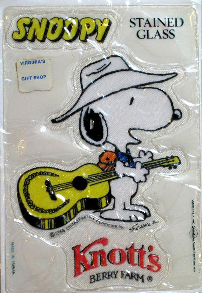 Snoopy Cowboy Stained Window Sticker