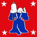 Snoopy 4th Of July Vintage Sticker