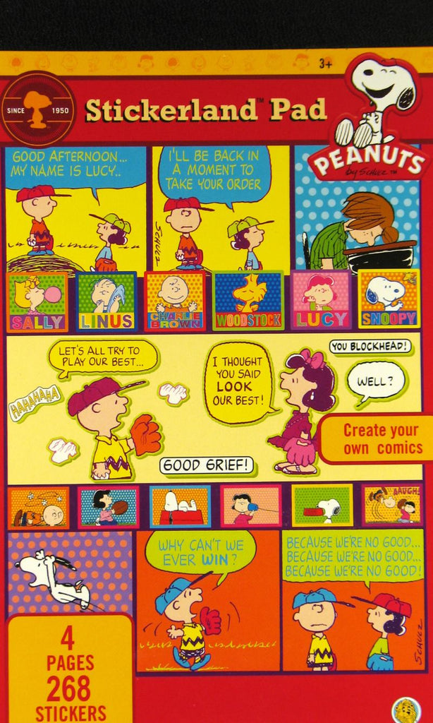 Peanuts Gang Stickerland Sticker Pad - 268 Stickers!