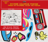 Peanuts Gang Sticker Coloring Poster