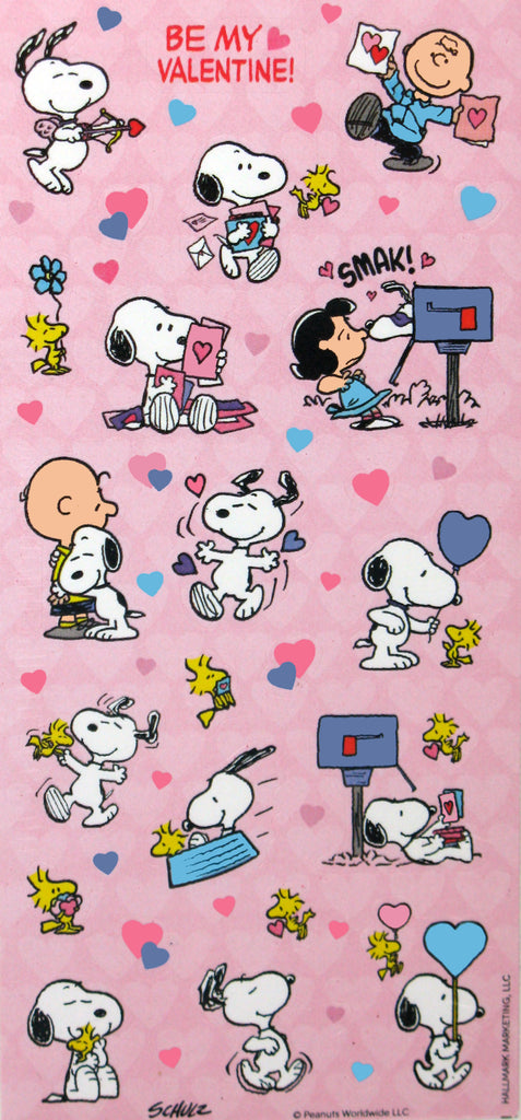Peanuts Gang Valentine's Day Stickers