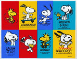 Snoopy and Woodstock Party Stickers
