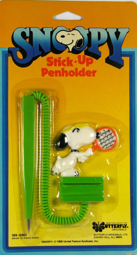 Snoopy Stick-Up Penholder With Pen
