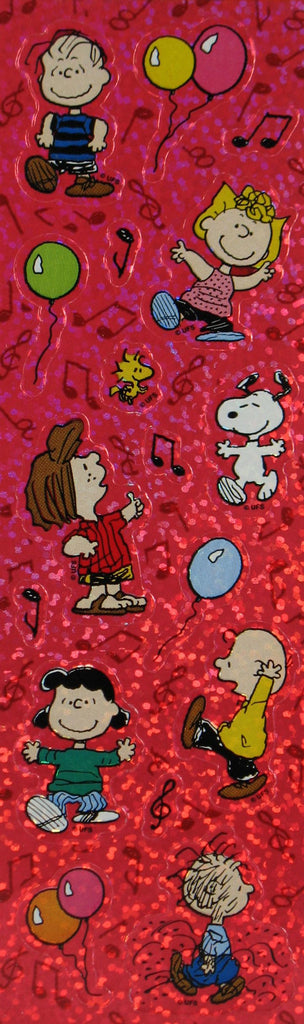 Peanuts Gang Dancing Glitter Stickers
