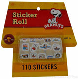 Peanuts Sticker Roll - 110 Stickers!