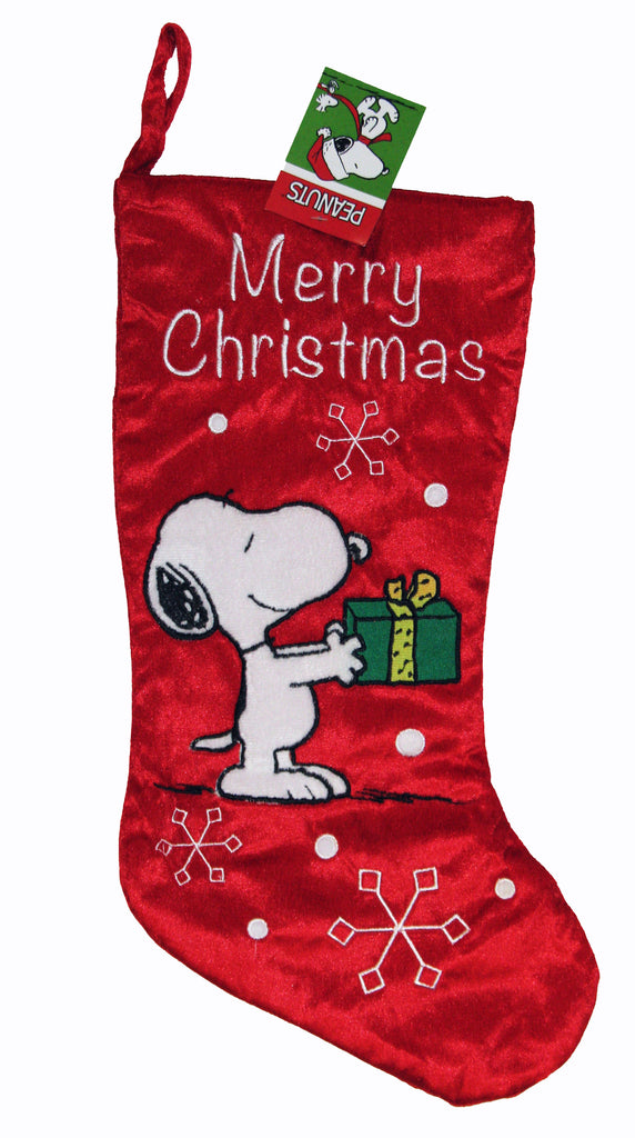 SNOOPY PLUSH CHRISTMAS STOCKING