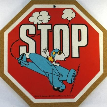 Flying Ace STOP Sign Cork Board - PRICE REDUCED!