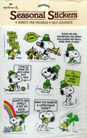 Snoopy St. Patrick's Day Stickers