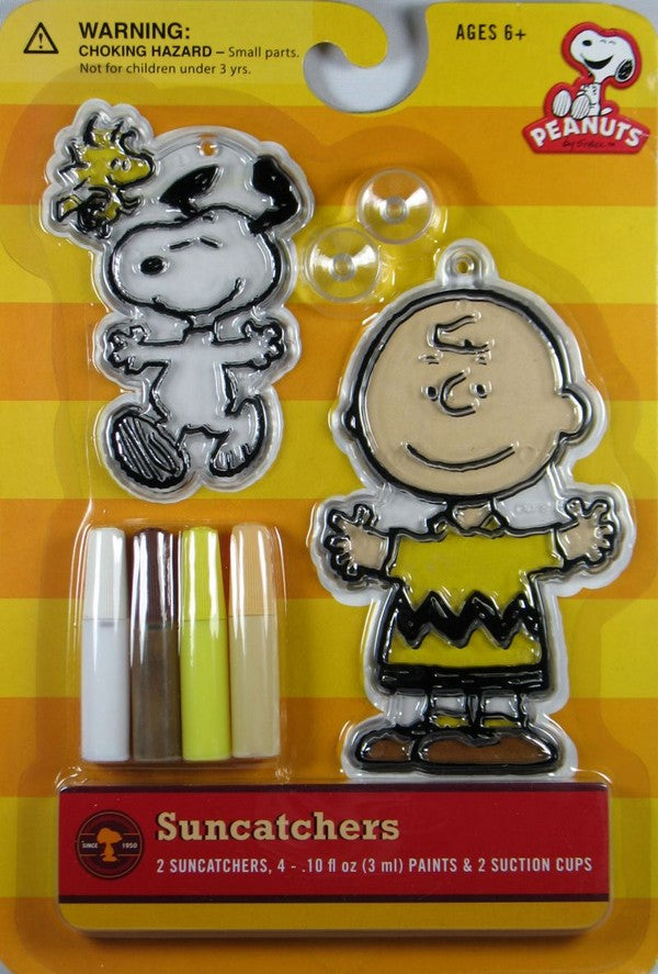 Peanuts Gang Suncatchers Window Decor Kit - Charlie Brown and Snoopy