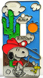 Snoopy Switch Plate Cover - Cowboy