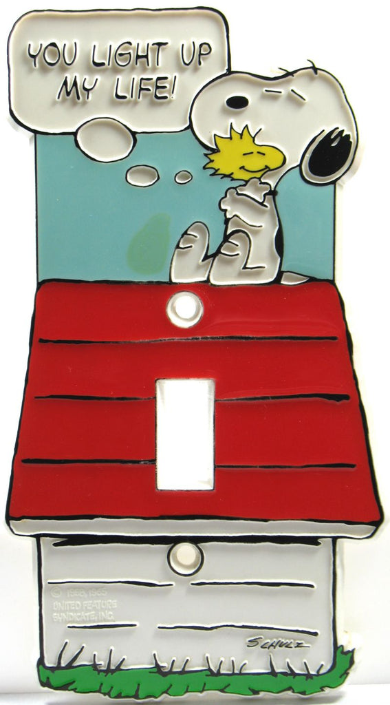 Snoopy Switch Plate Cover - Light Up My Life