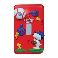 2-D Snoopy Baseball Switch Plate Cover