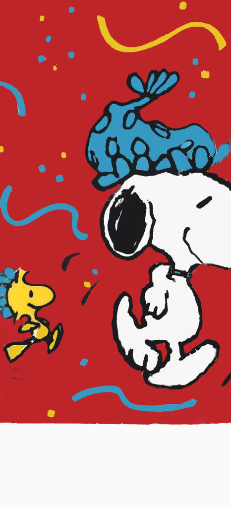 Snoopy and Woodstock Party Table Cover