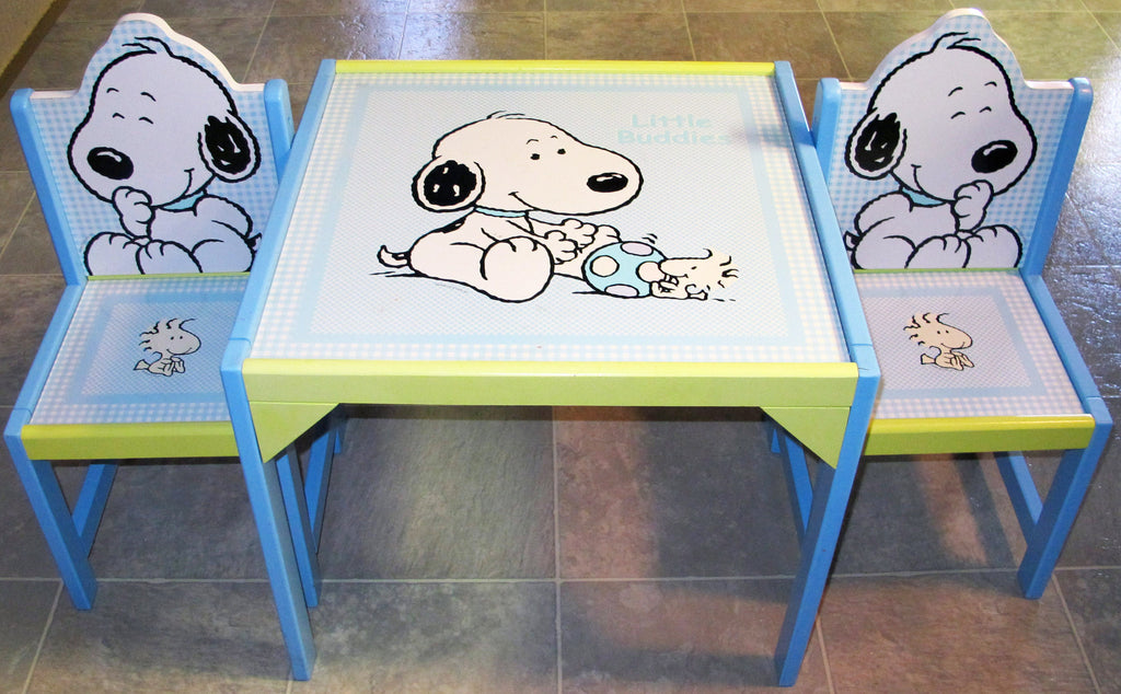Snoopy Wood Table and Chairs Set - Little Buddies
